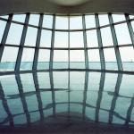 Looking at Lake Michigan out of the 'prow' of the Calatrava addition to the Milwaukee Art Museum